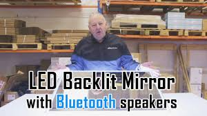 led backlit bathroom mirror with bluetooth speakers unboxing