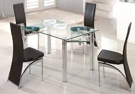 Black Extendable Dining Table Very Practical Expandable Glass Dining Table
