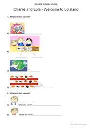 charlie and lola kids worksheet free esl printable worksheets