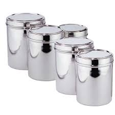 stainless steel kitchen canister sets awesome stainless steel canister sets kitchen home decorating ideas