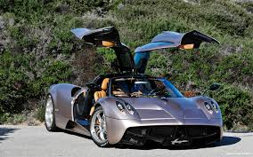 Pagani Huayra Front Three Quarter Doors Open Car Envy