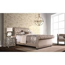 King Sleigh Bed Upholstered Sleigh Bed King 84 25 In L X 81 88 In