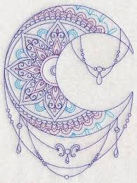machine embroidery designs at embroidery library moon sun