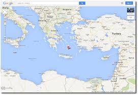 Greece Google Maps by Santorini Greece Map Google