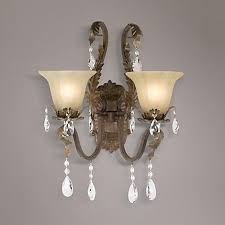 Chandelier Wall Sconce 21 Best Wall Sconces Images On Pinterest Wall Sconces Crystal