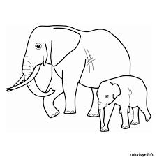 Coloriage elephants  JeColoriecom