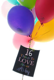 balloon gift 16th birthday gift idea what i about you squared