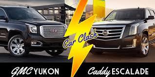 cadillac escalade vs yukon denali 2015 escalade vs 2015 yukon denali car clash gm authority