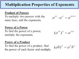 multiplication properties of exponents lesson ppt download