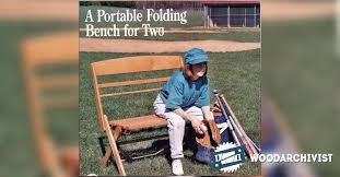 Hobby Bench Plans Portable Folding Bench Plans U2022 Woodarchivist