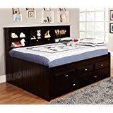 White Bookcase Daybed Amazon Com Roundhill Furniture Jura Bookcase Day Bed Full White