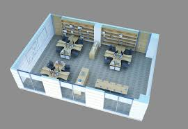 3d Office Floor Plan 3d Model Office Furniture Monitor Cgtrader