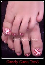 candy cane toes nail art gallery
