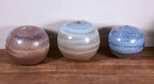 Large Ceramic Vases Set Of Three Large Ceramic Vases By Lampecco At 1stdibs