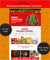 17 christmas newsletter templates u2013 free psd eps ai word