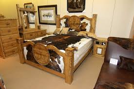 Wild Bills Custom Cowhide Bedroom Set Texas Pride Style Flickr - Cowhide bedroom furniture
