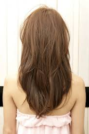 back views of long layer styles for medium length hair v layered haircuts back view images