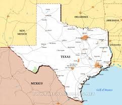map of texa physical map of