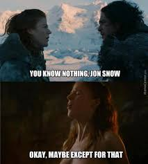 Ygritte Meme - game of thrones memes on twitter jon snow and ygritte http t co