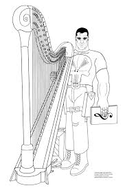 punisher coloring page archives the punisher harp u0027n guitar zone