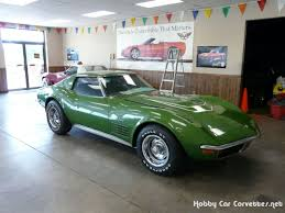1972 corvette lt1 1972 green corvette lt 1 4spd numbers matching