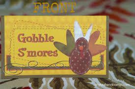 thanksgiving gobble thanksgiving crafts gobble smores free printable