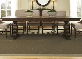 trestle dining table with pine and polar solids and cathedral