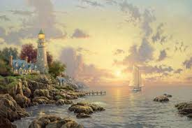 Best Paintings by Thomas Kinkade The Sea Of Tranquility Painting Best Paintings
