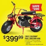tractor supply black friday coleman 196cc trail 200u mini bike for 399 99 at tractor supply