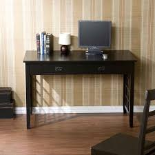 Dark Wood Office Desk Furniture Dark Wooden Rectangle Table With Two Drawer Plus Chair