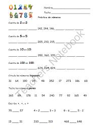 bilingual spanish english numbers worksheet los n meros from
