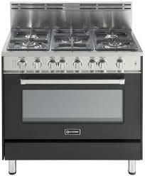 Matte Appliances Verona Vefsgg365 36 Inch Pro Style Gas Range With 5 Sealed Burners