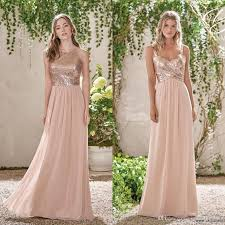 wedding dresses for bridesmaids blush bridesmaid dresses cheap gold sequins top chiffon