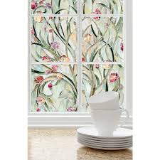 artscape 24 in x 36 in iris decorative window film 02 3612 the