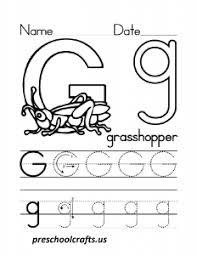 letter g worksheets for preschool preschool and kindergarten