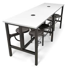 standing height folding table 9008 endure white dry erase standing table metal seats ofm jpg