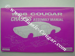 assembly manual chassis repro 1968 mercury cougar 13699 at