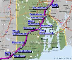 map rhode island i 95 rhode island driving distance