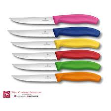 coffret de couteaux de cuisine coffret de 6 couteaux à pizza victorinox