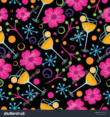 seamless background pattern cocktail glasses party stock vector