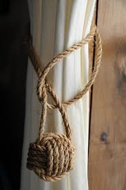 Rope Tiebacks For Curtains Nautical Home Decor Nautical Home Decor Nautical Curtain