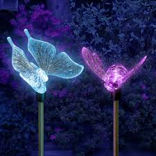 Colour Changing Solar Garden Lights - changing color solar lights outdoor sacharoff decoration