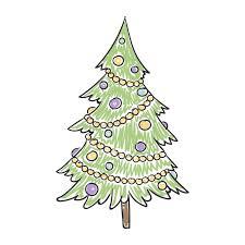 children u0027s drawing of a christmas tree stock illustration image