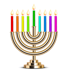 hanukkah menorahs illustration of gold hanukkah menorah stock vector illustration