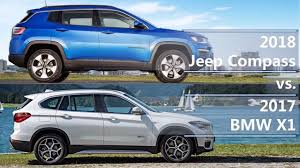 jeep bmw 2018 jeep compass vs 2017 bmw x1 technical comparison youtube
