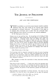 art and the ineffable w e kennick the journal of philosophy