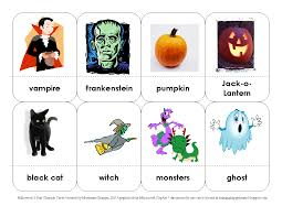 training happy hearts halloween 3 part charades cards free printable