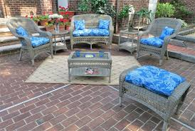 4 pc belair resin wicker furniture set with cushions