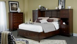Bedroom Wall Storage Folio 21 Edenfield Queen Wall Storage Bed With 2 Pier Chests