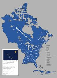 Map Of North America Map by Map Of The Sovereign League Of North America Slna By Ieph On
